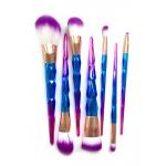 Pędzel do makijażu TĘCZOWE - zestaw 7 sztuk