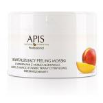 APIS PROFESSIONAL Rewitalizujący peeling morski z minerałami z Morza Martwego, ekstraktem z mango i trawy cytrynowej